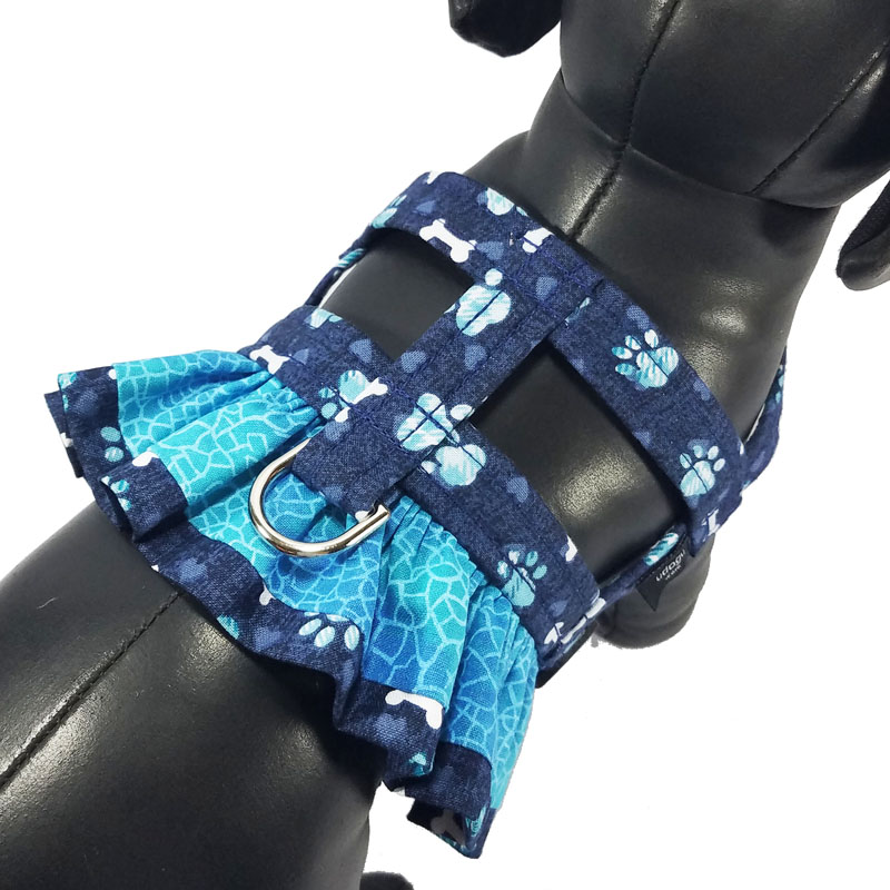 Blue PAW-lette Ruffle Harness