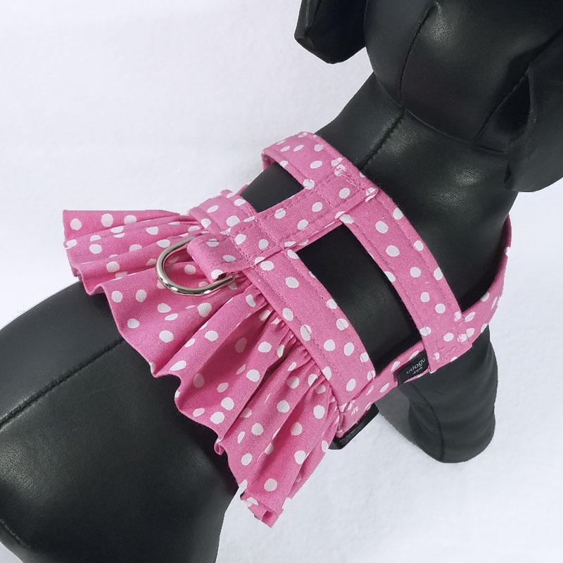Pretty in Pink Therapy Dog Ruffle Harness