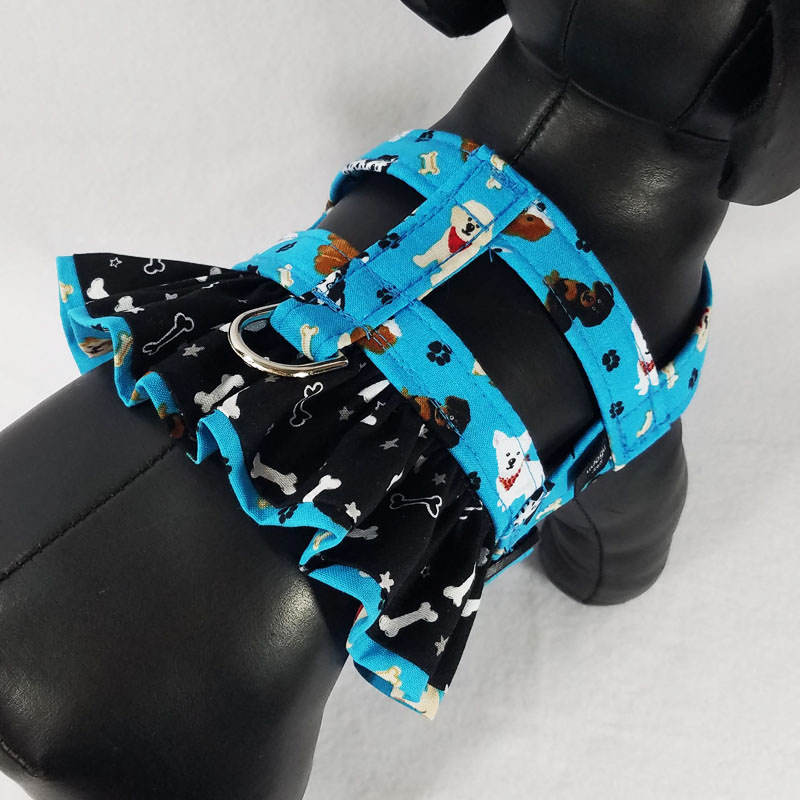 Puppy Girl Therapy Dog Ruffle Harness