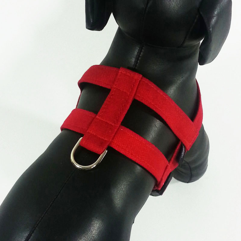 Red Solid Easy-On Harness