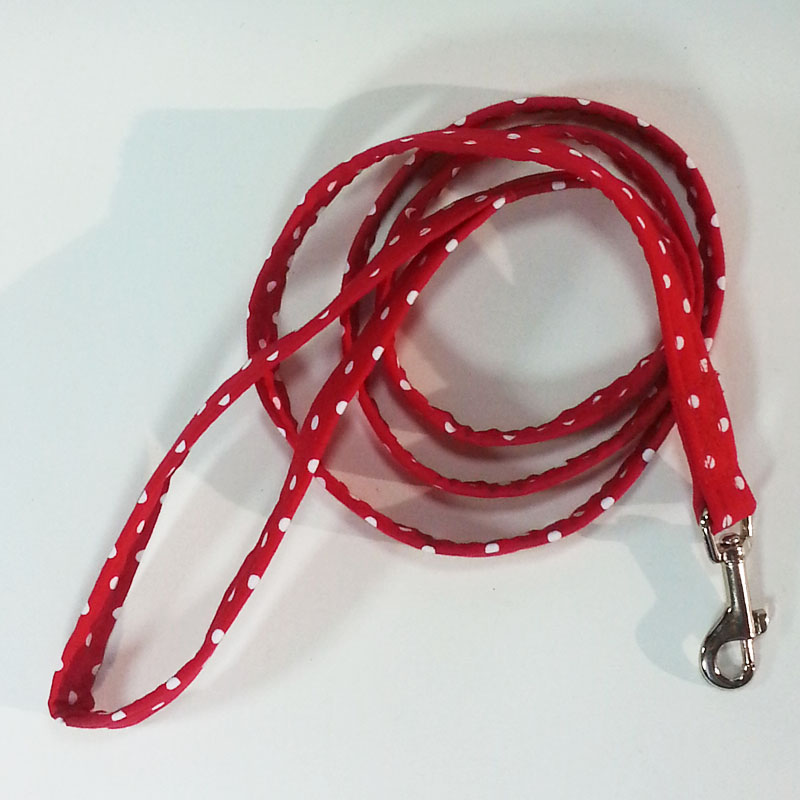 Red White Dot 4' Lightweight Lead