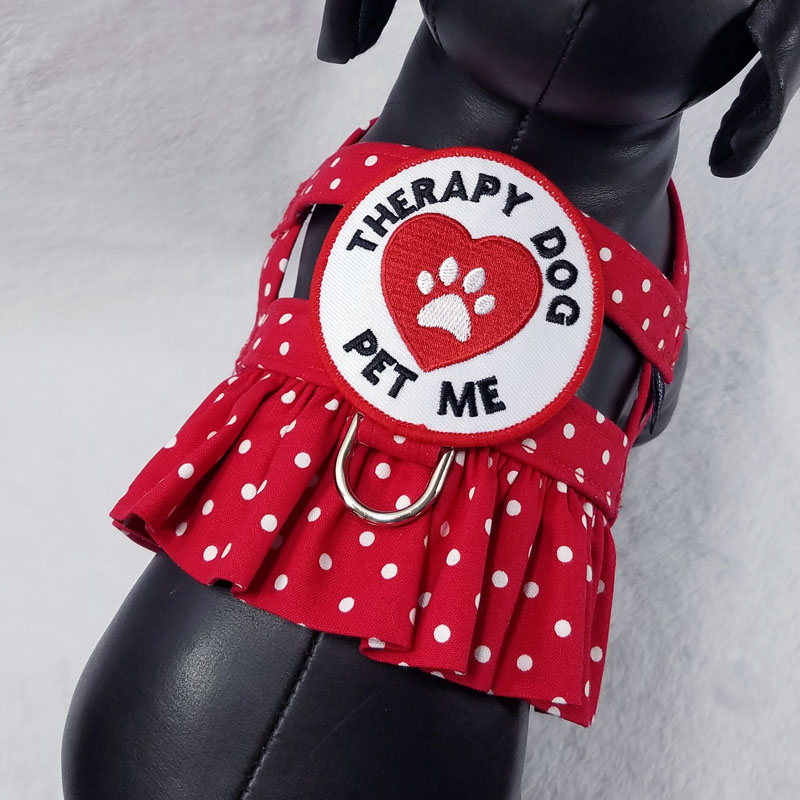 Therapy Dog Ruffle Harness