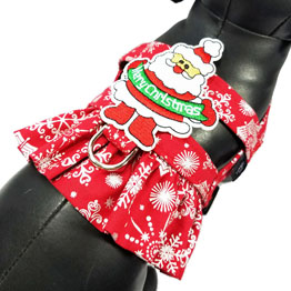Silver Snowflakes Dog Harness