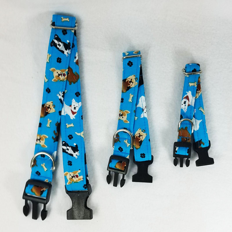 Teal Puppies Collar