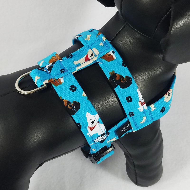 Teal Puppies Easy-On Harness