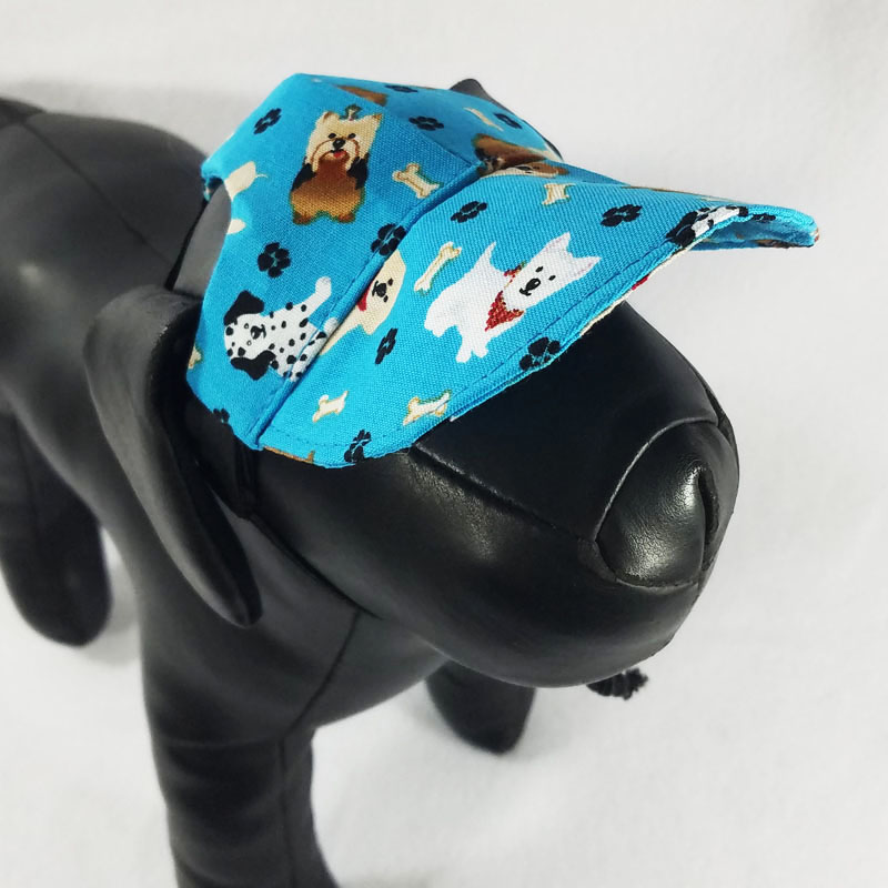 Teal Puppies Dog Hat