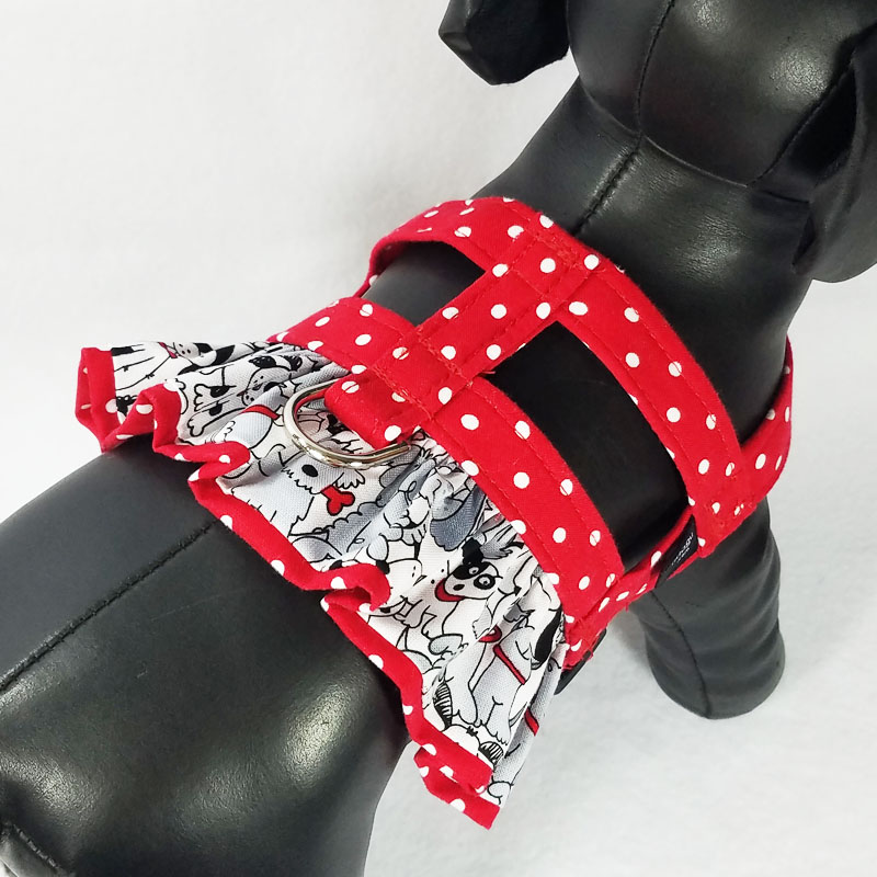 Red Dot Puppies Ruffle Harness