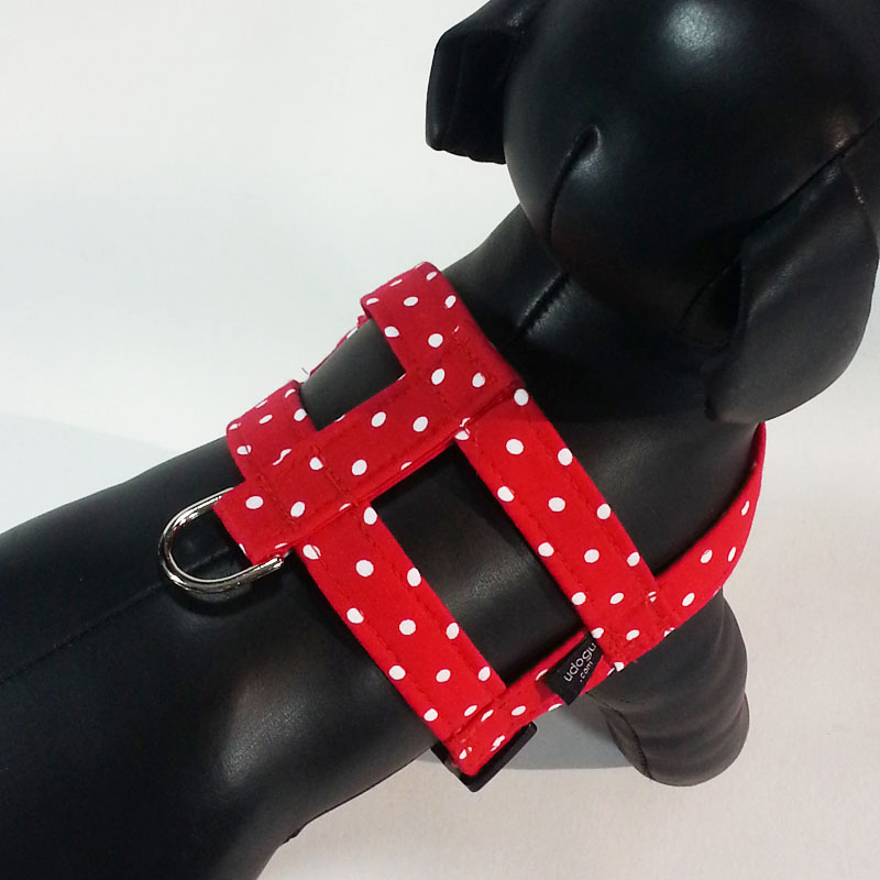 Red White Dot Easy-On Harness